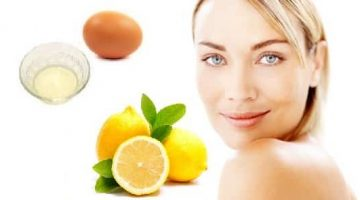 Homemade Face Mask With Egg White And Lemon For Acne Or Oily Skin