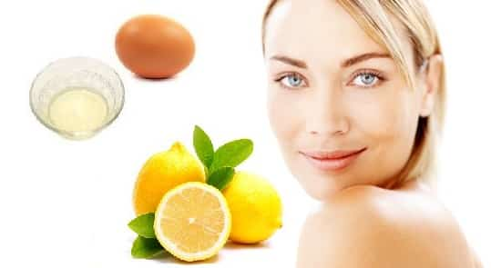 Egg White Face Mask with Lemon for Oily and Acne Skin