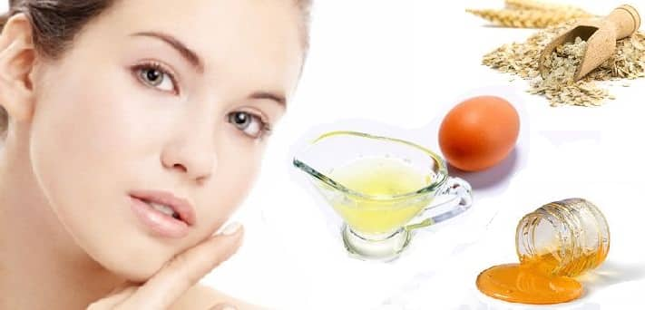 Egg White Face Mask with Oatmeal for Exfoliating