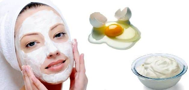 Egg White Face Mask with Yogurt for Combination Skin