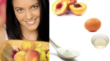 Peach Face Mask For Combination Skin With Sour Cream