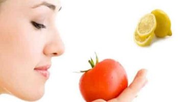 Face Mask For Dark Circles With Tomatoes And Lemon