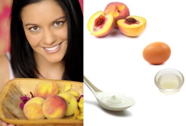 Face Mask For Combination Skin With Peach And Sour Cream