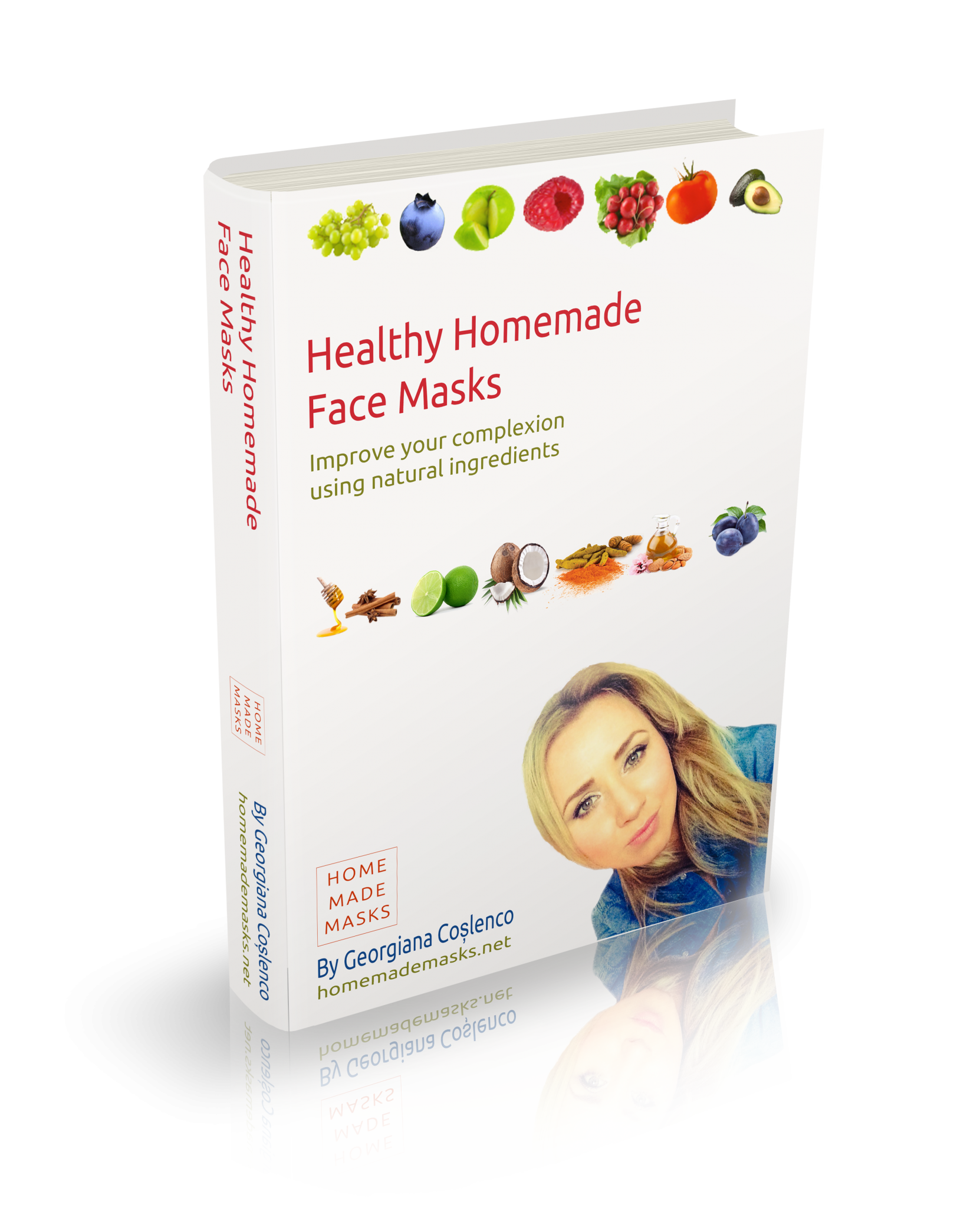 Healthy Home Made Face Masks Book Cover