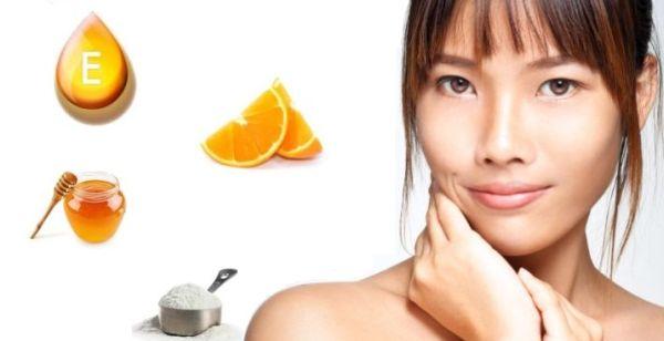 Homemade face mask with Orange for Radiant skin