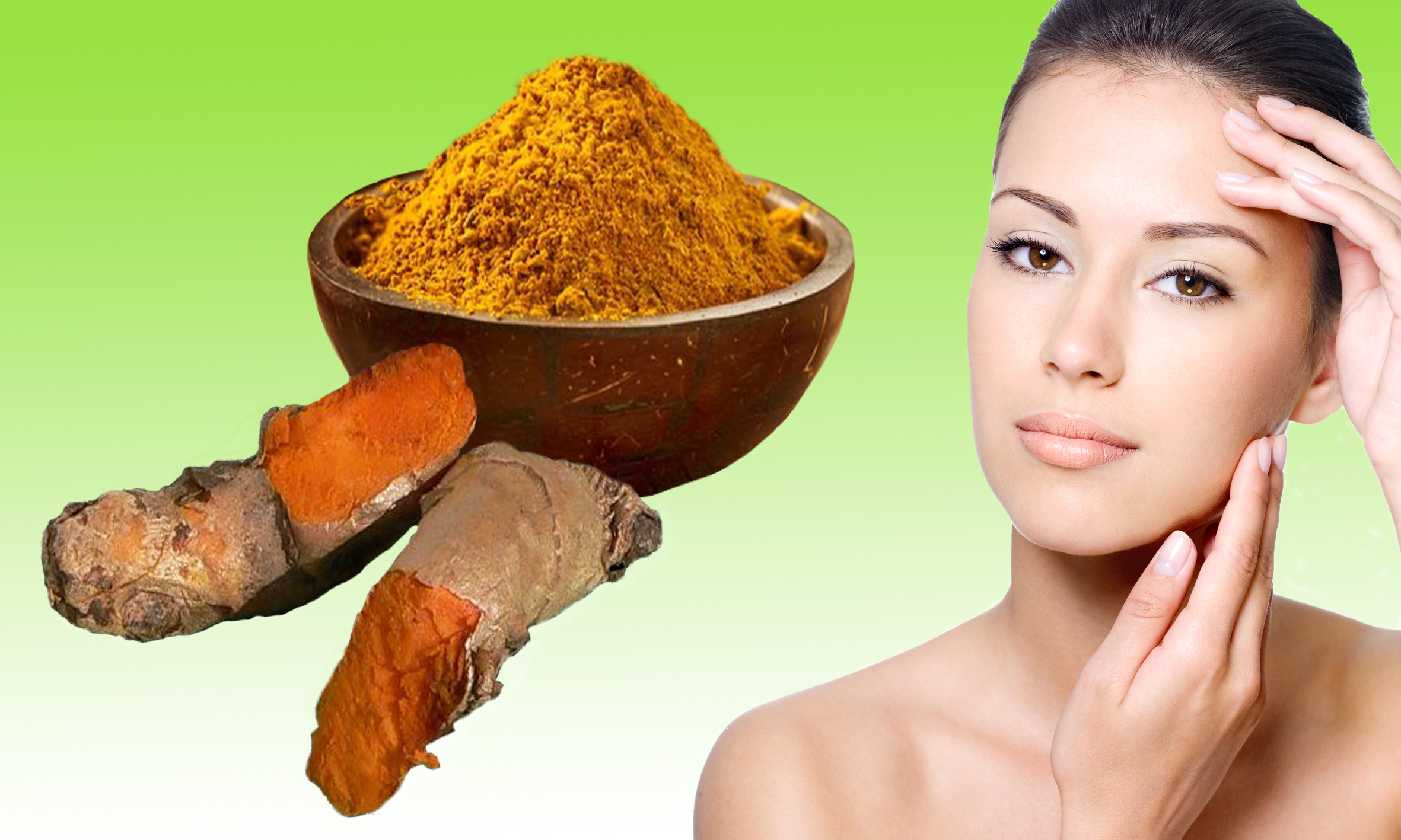 Homemade facial Hair Removal mask with Turmeric